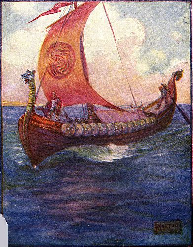 Beowulf Sailing to Daneland