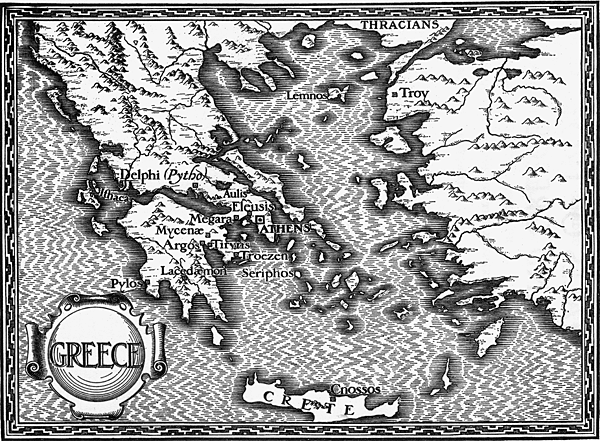 Map Showing Greece and Troy