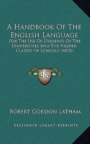 A Hand-book of the English Language Cover