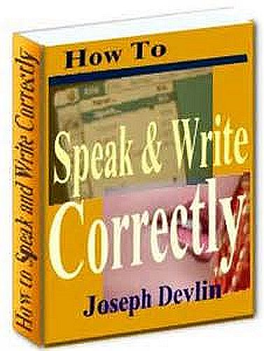 How to Speak and Write Correctly Cover